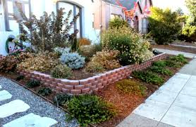 landscape ideas for front of house low maintenance