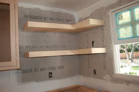 Kitchen Corner Shelf by White Floating Shelves Kitchen Making Your Own Floating Kitchen