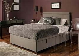 Super King Ottoman Storage Beds by Luxury Chenille Ottoman Divan Storage Bed Single Double King Size