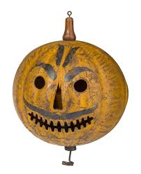 painted tin halloween parade jack o lantern probably toledo ohio