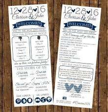 printed wedding programs printed infographic wedding programs printed programs