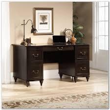 Z Line Cyra Gaming Desk by Sauder Shoal Creek Executive Desk Jamocha Wood