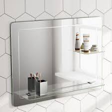 Rectangular Bathroom Mirrors 800x600mm Rectangular Bathroom Mirror Horizontal With Glass