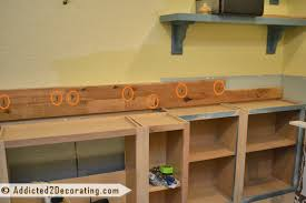 Making Wood Bookcase by Diy Built In Bookcases Part 2 Making The Wood Countertop