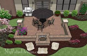 Backyard Brick Patio Design With Grill Station Seating Wall And by Do It Yourself Patio Designs That Will Rock Your Backyard