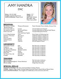 Theatrical Resume Sample by Actors Resume Example Acting Resume Sample Free Http Www