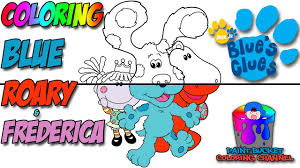 how to color blue roary and frederica nick jr blue u0027s clues