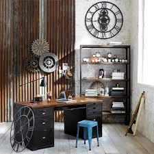 bureau fer forgé design interieur décoration industrielle salle bureau horloges