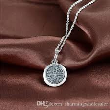pandora style charm necklace images Online cheap signature pendant necklace fits pandora style charms jpg