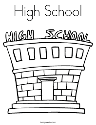 Coloring Page Of A School High School Coloring Page Twisty Noodle by Coloring Page Of A School