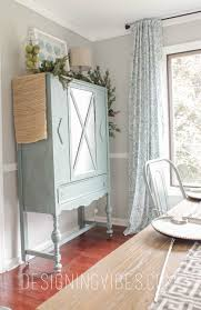 Contemporary Curio Cabinets Curio Cabinet Makeover With Milk Paint And Mirror Spray Paint