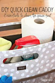 diy quick clean caddy to clean the house fast