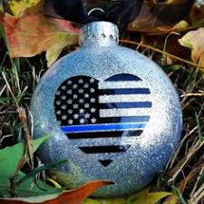 thin blue line ornament for enforcement officers