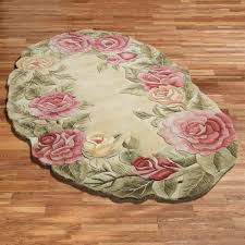 Shabby Chic Kitchen Rugs Roses Oval Rug Oval Rugs And House