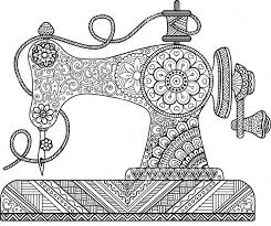sewing machine zentangle coloring page zentangle coloring pages