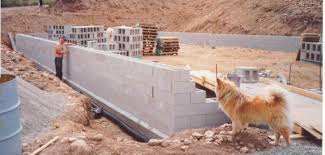 how to build a concrete block house stack block surface bonded concrete block walls used for htms