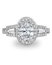 mabel art deco oval cut engagement ring paul bram