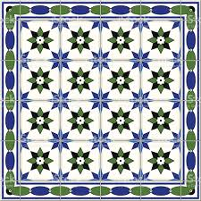 Blue Border Tiles Seamless Pattern Turkish Moroccan Portuguese Azulejo Tiles And