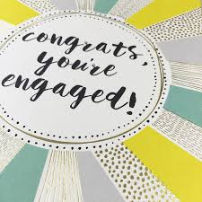 congrats engagement card congrats on your engagement card by hogarth