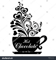 chocolate cup cup floral design stock illustration 684726445