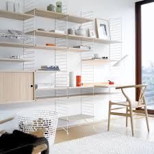 Wohnzimmer Regale Design String Regalboden 58 X 20 Cm 3er Pack Eiche Eiche Büros