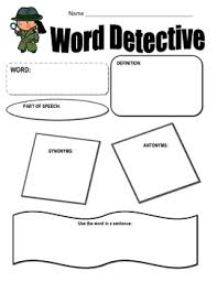 word detective graphic organizer by mrs allgood tpt