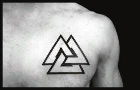 tattoo chest triangle 50 valknut tattoo designs for men norse mythology ink ideas