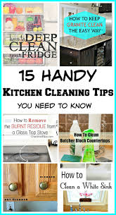 15 handy kitchen cleaning tips