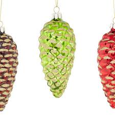 best glass pinecone ornament products on wanelo