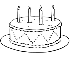 impressive birthday cake coloring pages printa 3621 unknown