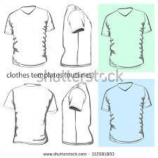 men u0027s v neck shirt template download free vector art stock