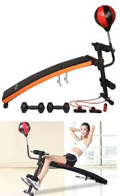 Weight Bench Ab Exercises Abdominal Exercisers 15274 Self Curved Ab Sit Up Decline Abdominal