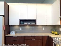 stacked kitchen backsplash new tile backsplash in the kitchen and bathroom mymcmlife