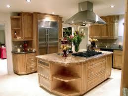 Maple Kitchen Island Kitchen Beautiful Maple Kitchen With Island Range U0026 Hood