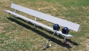 15 u0027 locker dugout bench inground