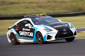 new lexus muscle car lexus rc f is the new v8 supercars safety car