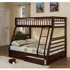 Jason Twin Over Full Wood Bunk Bed Espresso Walmartcom - Full and twin bunk bed
