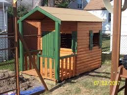 build a log cabin playhouse for under 300 11 steps with pictures