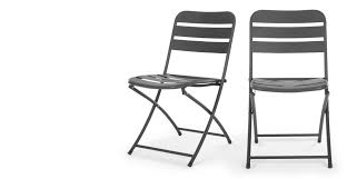 Dining Folding Chairs Made Essentials Set Of 2 Tice Folding Dining Chair Grey Made