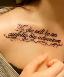 fabulous quote tattoos for look awesome on shoulder and neck