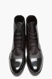 mr hare black scotchgrain u0026 matte leather boots men shoes