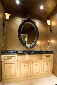 Decorative Mirrors For Bathroom Vanity Newport Powder Bath Bathroom Vanity Mirrors Rubbed Bronze