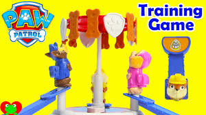paw patrol pups training game chase rubble skye