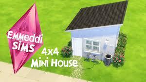 the sims 4 speed build mini house 4x4 emmeddì sims youtube
