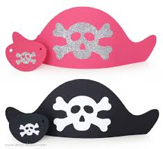 pirate crafts materials for pirate hat craft family day pirate