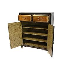 Oriental Credenza Amazon Com Oriental Furniture Gold Lacquer Two Drawer Cabinet