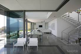 open plan living stairs contemporary 3 level home in cape town