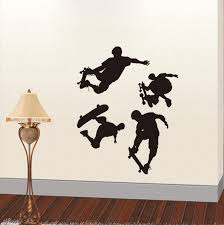 Bathroom Door Stickers Diy Skateboard Boy Mural Wall Stickers For Kids Bathroom Door