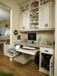 kitchen cabinet desk ideas clever ideas to design a functional office in your kitchen