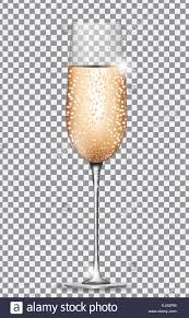 champagne transparent glass of champagne on on transparent background vector